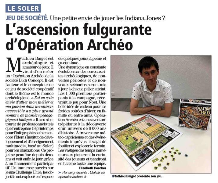 Opération Archéo L'indépendant
