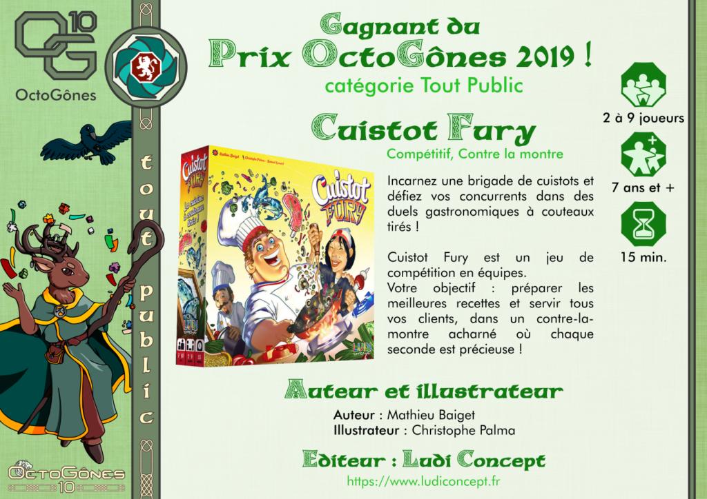 """Cuistot Fury, gagnant du Prix Octogônes 2019 catégorie """"tout public"""""""